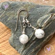 Classical Howlite Silver Earrings